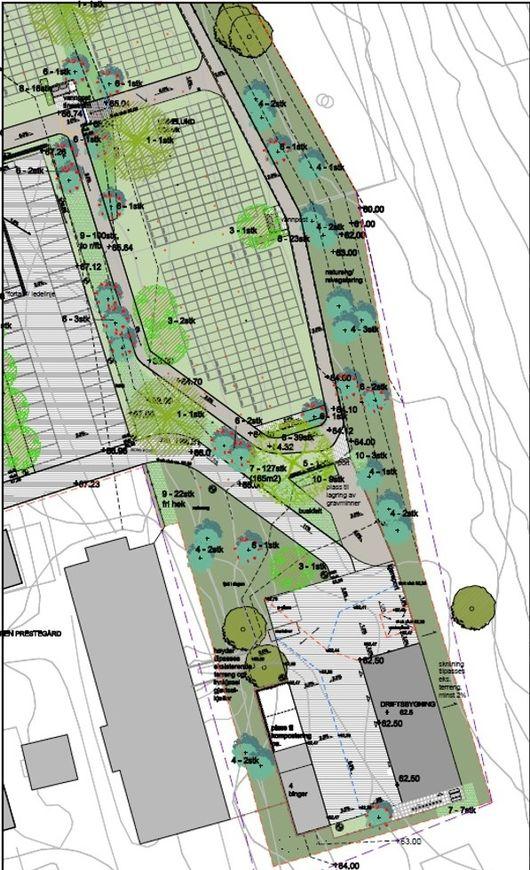 Arbeidet med utvidelse av Gjerpen kirkegård og ny driftsavdeling er igang